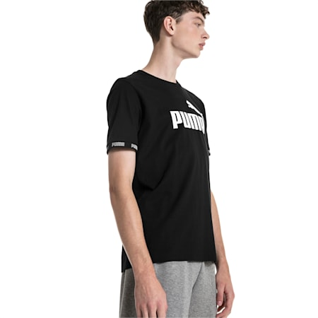 Amplified Men's Tee, Cotton Black, small-IND