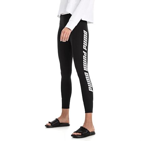 Modern Sports Fold Up Women's Leggings, Puma Black-white, small