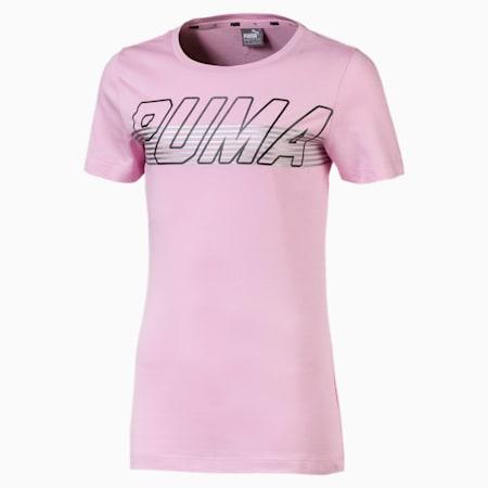 T-Shirt Alpha Logo pour fille, Pale Pink, small
