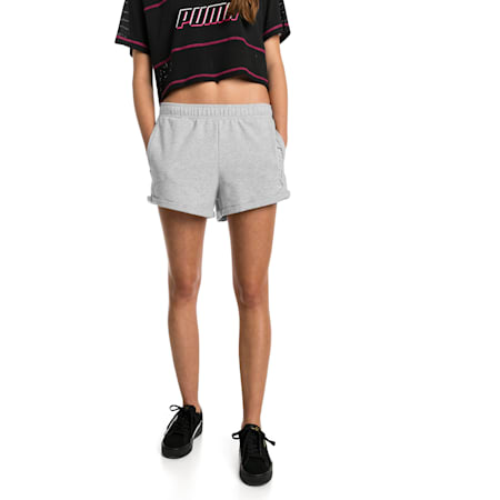 Shorts Modern Sports para mujer, Light Gray Heather, small