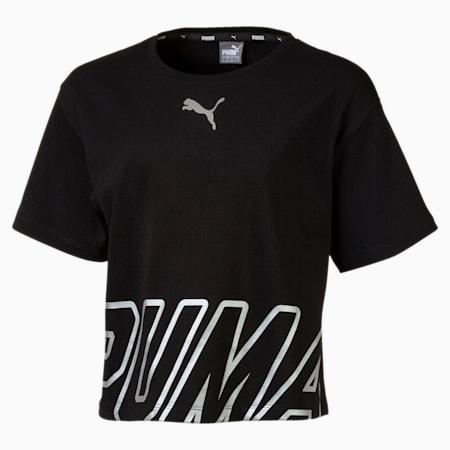 T-shirt da bambina Alpha, Cotton Black, small
