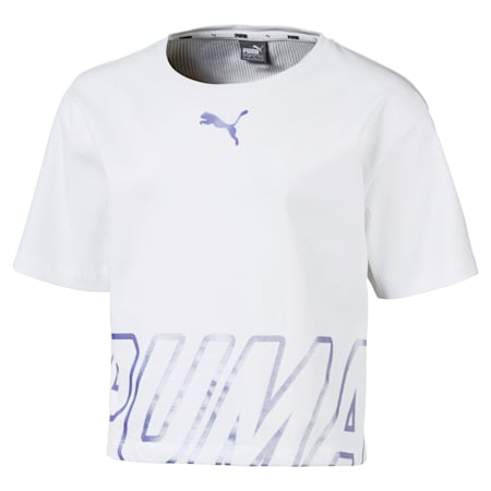 Alpha Girls' Tee, Puma White, small