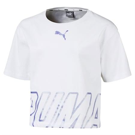 Dziewczęca koszulka Alpha, Puma White, small