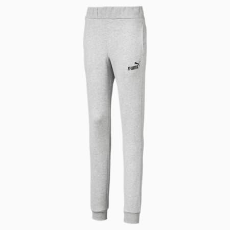 Essentials Girls' Sweatpants, Light Gray Heather, small-SEA