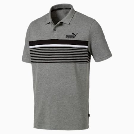 Essentials+ Short Sleeve Men's Polo Shirt, Medium Gray Heather, small-IND