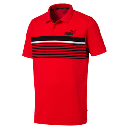 Essentials+ Short Sleeve Men's Polo Shirt, High Risk Red, small-IND