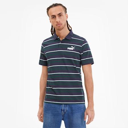 Essentials+ Stripe J.Polo, Peacoat, small-IND