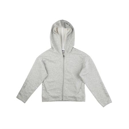 Alpha Hooded Sweat Jacket, Light Gray Heather, small-IND