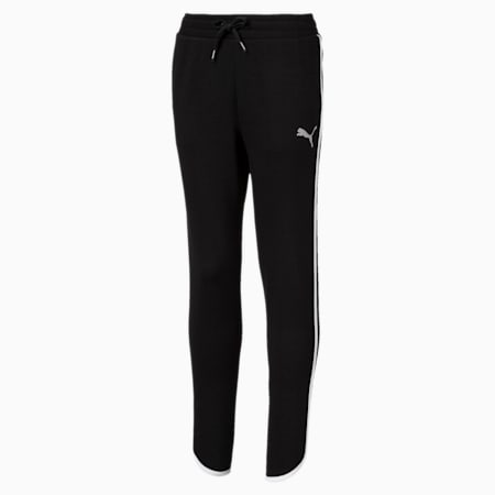 Alpha Girls' Sweatpants, Cotton Black, small-SEA