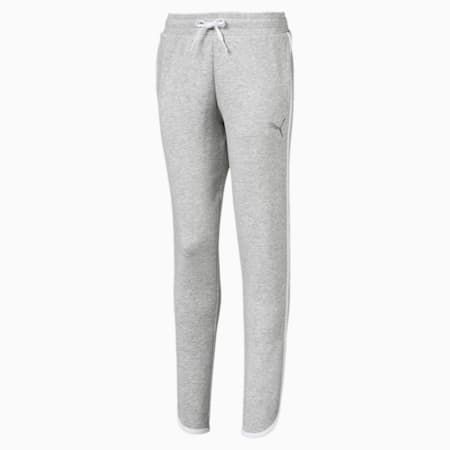Alpha Girls' Sweatpants, Light Gray Heather, small-SEA