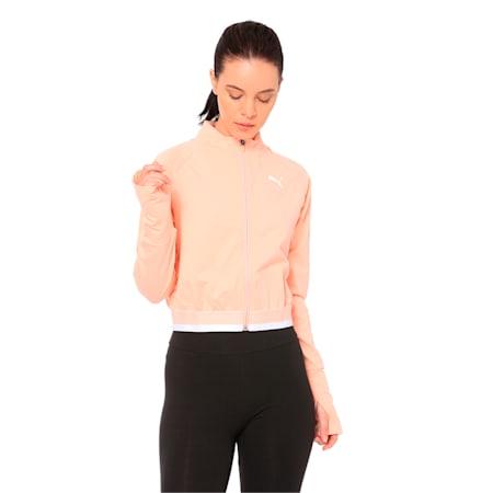 Soft Sports Full Zip Women's Jacket, Peach Bud, small-IND