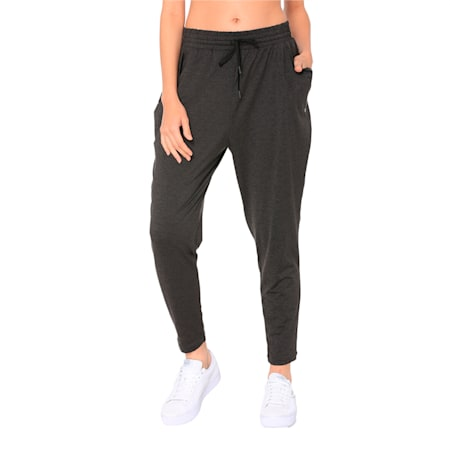 Soft Sports Women's Drapey Pants, Puma Black Heather, small-IND