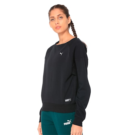 Fusion Women's Sweater, Cotton Black, small-IND