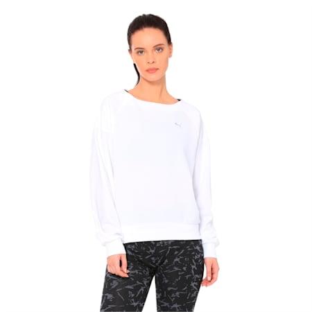 Fusion Women's Sweater, Puma White, small-IND
