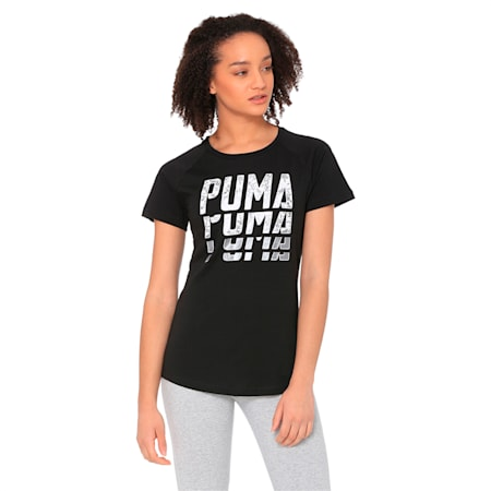Font Graphic Women's Tee, Cotton Black, small-IND