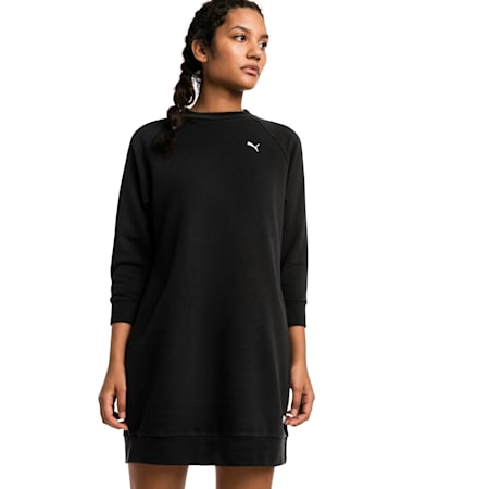 Vestido estilo suéter Athletics para mujer, Puma Black, small