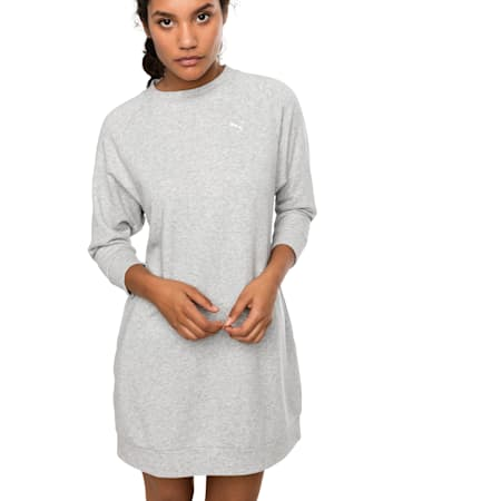 Vestido estilo suéter Athletics para mujer, Light Gray Heather, small