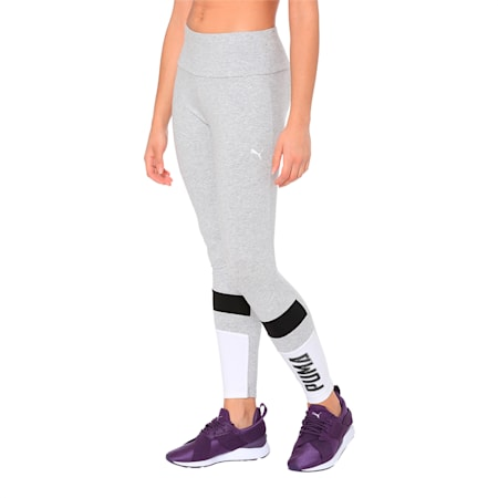 Athletics Women's Leggings, Light Gray Heather, small-IND