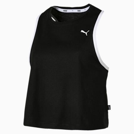 Camiseta de tirantes Summer para mujer, Cotton Black, small