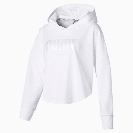 Summer Cropped Light Hoody, Puma White, small-IND