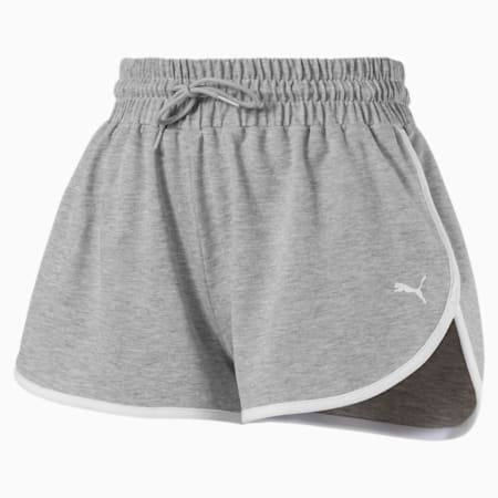 Summer Women's Shorts, Light Gray Heather, small