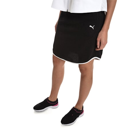 Women's Summer Skirt, Cotton Black, small-SEA
