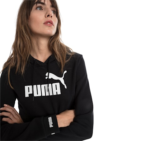 Amplified Women's Hoodie, Cotton Black, small-IND