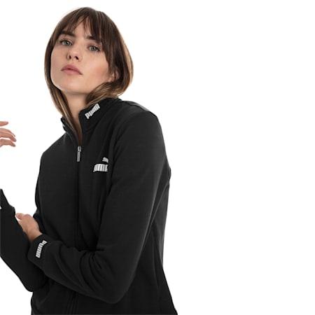 Amplified Women's Track Jacket, Cotton Black, small-SEA