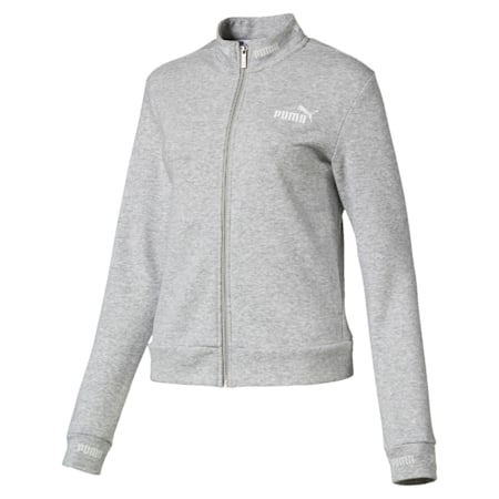 Amplified Women's Track Jacket, Light Gray Heather, small-IND