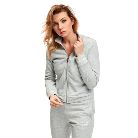 Amplified Women's Track Jacket, Light Gray Heather, small-SEA