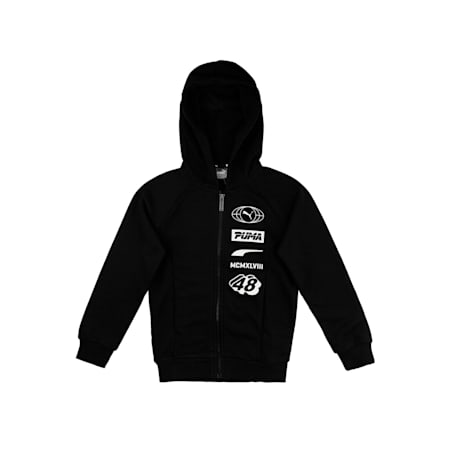 Alpha Hooded Jacket, Cotton Black, small-IND