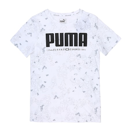 Active Sports Boys' Tee, Puma White, small-IND