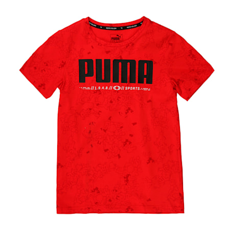 Active Sports Boys' Tee, High Risk Red, small-IND