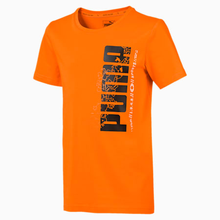 Active Sports Boys' Tee, Orange Popsicle, small-IND