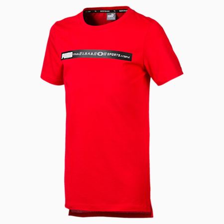 Boys'  Active Sports Advanced Tee, High Risk Red, small-SEA