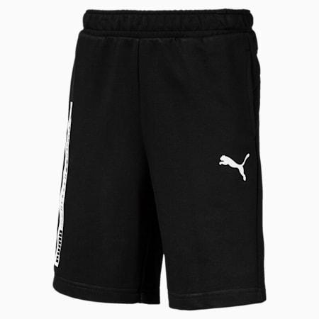Active Boys' Sweat Shorts, Cotton Black, small-SEA