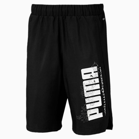 Active Sports Woven Boys' Shorts, Puma Black, small-IND