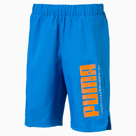 Active Sports Woven Boys' Shorts, Indigo Bunting, small