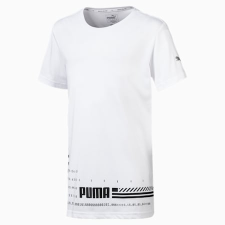 Energy Short Sleeve Boys' Tee, Puma White, small-SEA