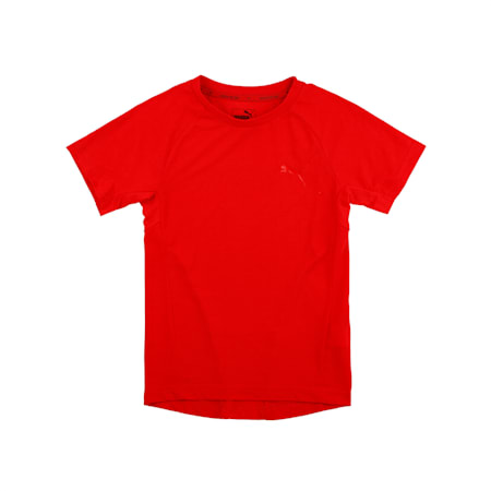 Evostripe Boys' Tee, High Risk Red, small-IND