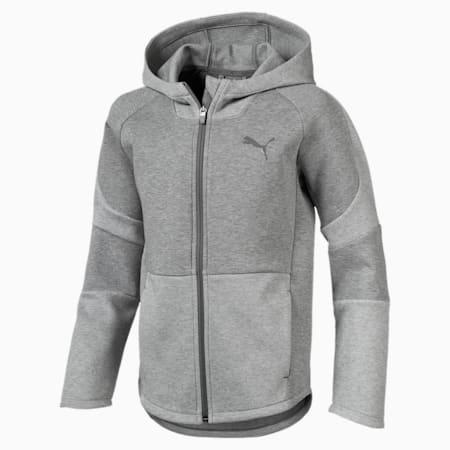 Evostripe Hooded Jacket, Medium Gray Heather, small-IND
