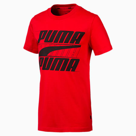 Rebel Bold Boys' Tee, High Risk Red, small-SEA