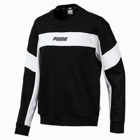 Rebel Crew Neck Boys' Sweater, Cotton Black, small