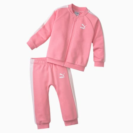 Minicats T7 Full Zip Babies' Jogger Set, Peony, small