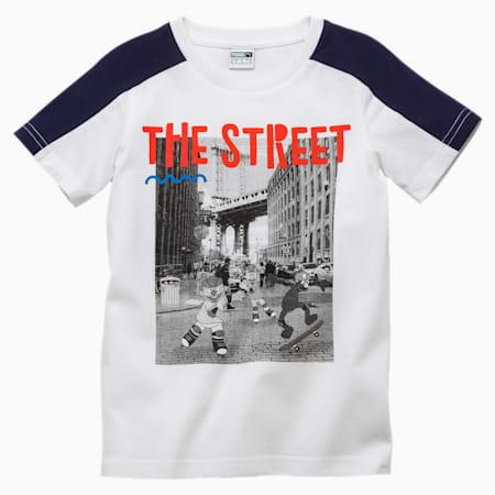 PUMA x SESAME STREET Boys' Tee, Puma White, small-SEA