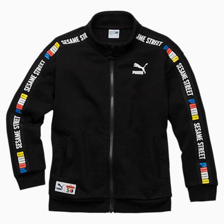 PUMA x SESAME STREET Boys' Jacket, Cotton Black, small-SEA