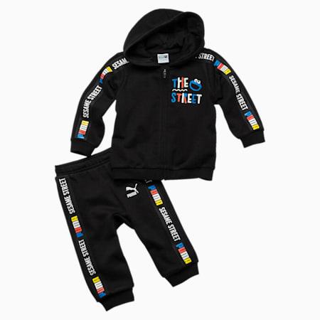 PUMA x SESAME STREET Infant + Toddler Sweatsuit Set, Cotton Black, small