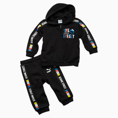 Sesame Street Hooded Baby Boys' Track Suit, Cotton Black, small-SEA