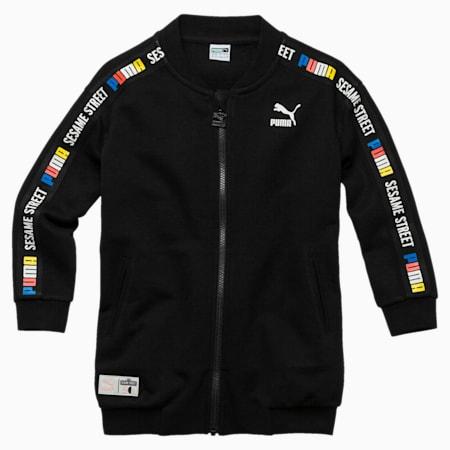 Sesame Street Girls' Jacket, Cotton Black, small-SEA