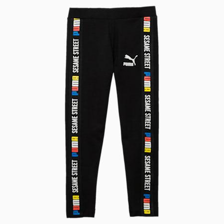 Sesame Street Girl's Leggings, Cotton Black, small-SEA